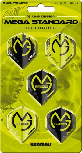 Michael van Gerwen Darts, Набор из 5-ти комплектов оперений Winmau MvG Mega Standard Flight Collection 8121